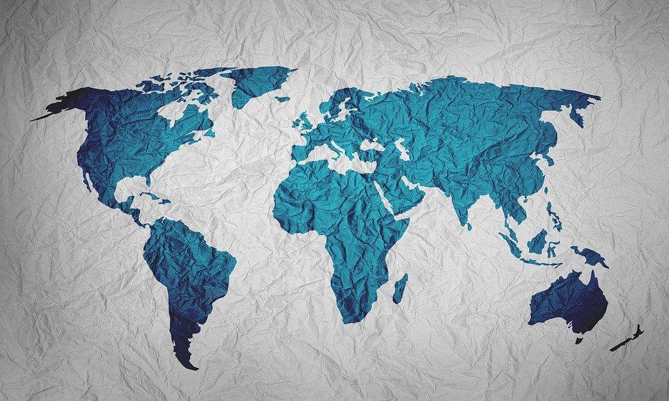 Carte du monde - Source Pixabay