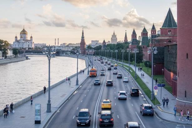 Photo Berges du fleuve la Moskova, Moscou, capitale de la Russie - Source Pixabay - Copie